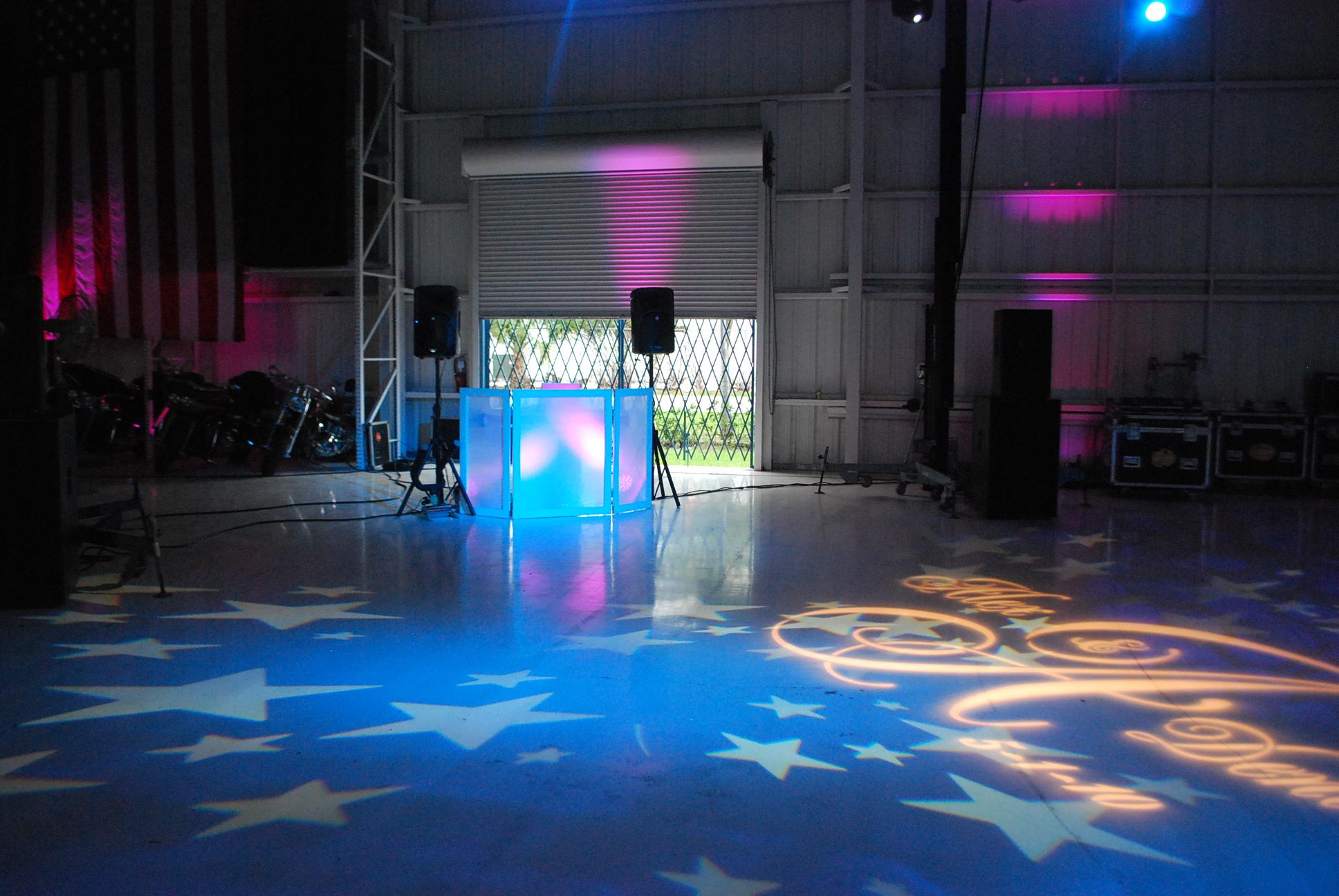 Wedding Dancefloor, Miami Dj, Wedding, Stages, Wedding Stage, Miami Wedding Djs, Gobos, Up Lighting