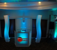 Custom Dj Booth, Up Lighting