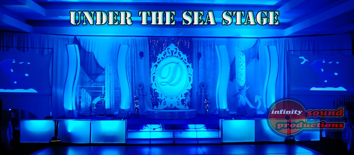Under the sea Stage For Quinces, Miami Quinces, Quince Stages, Quinceaneras, Miami Partys , Sweet 16