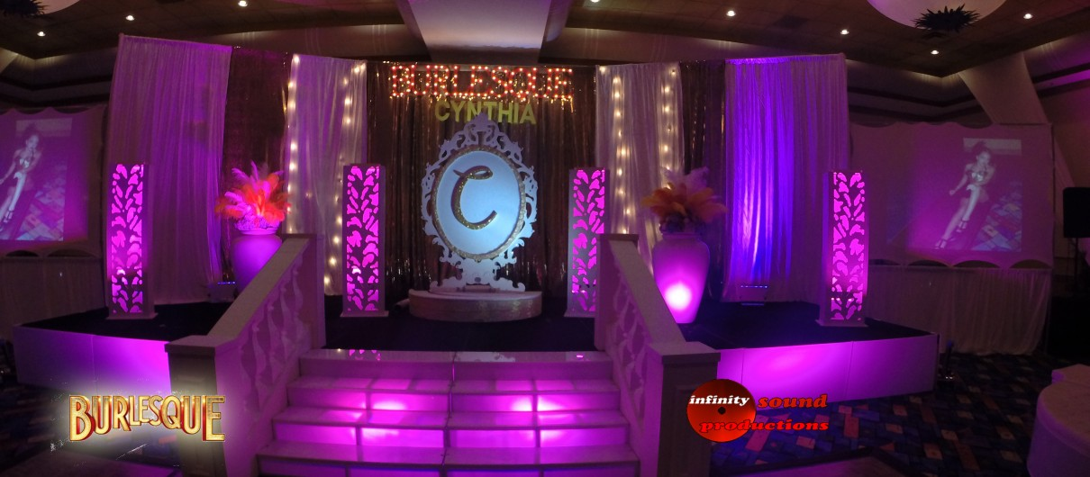 Burlesque Stage For Quinces, Miami Quinces, Quince Stages, Quinceaneras, Miami Partys , Sweet 16